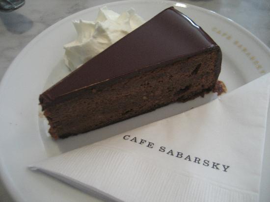 Neue Galerie: Sachertorte in the Café Sabarsky