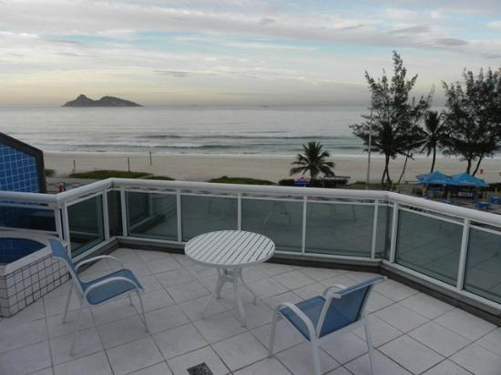 Sol da Barra Apart Hotel : Vista amanecer desde el balcón Sol da Barra