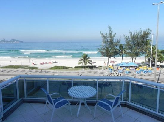 Sol da Barra Apart Hotel : Vista desde el balcón Sol da Barra