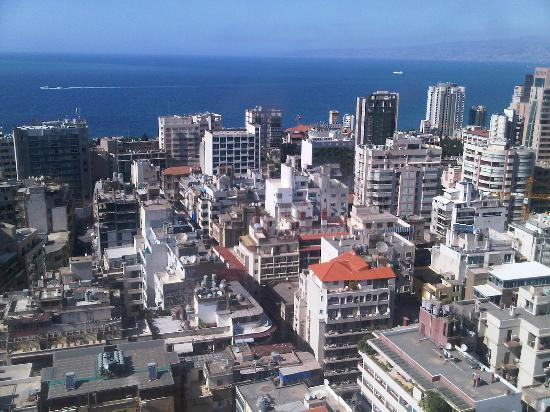 Crowne Plaza Hotel Beirut: View from the 21st floor