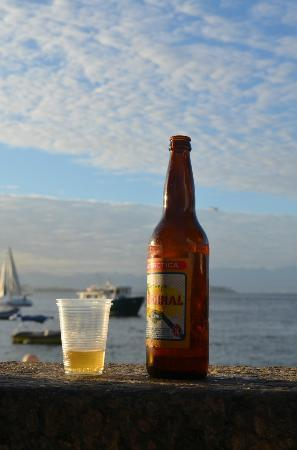 Bar Urca: glass bootle of beer by the wall