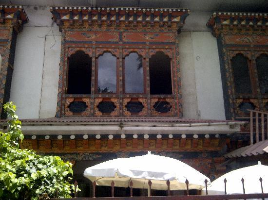 Art Cafe : Otside the Art Café in Thimphu, Bhutan