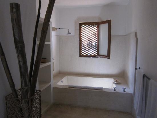 Hotel Hacienda Merida: Shower and Tub