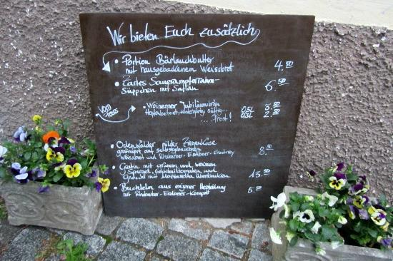 Bensheim, Germania: Menu Board