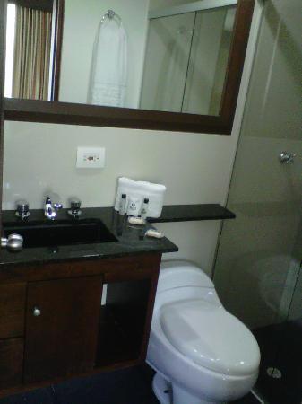 Hotel Suite Comfort: Lavabo, retrete y cabina de ducha