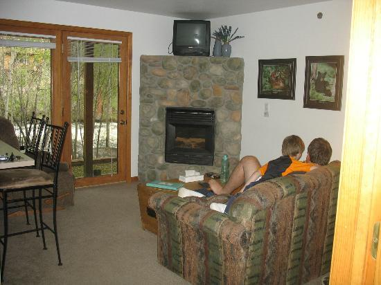 Rapids Lodge: Living room area