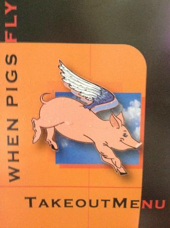When Pigs Fly Southern BBQ: Take Out Menu Cover