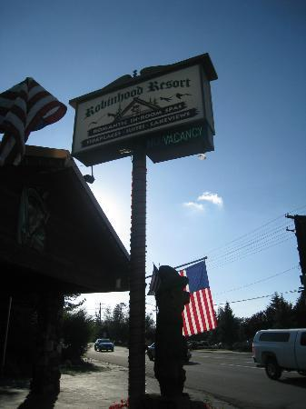 Robinhood Resort: shot of the sign