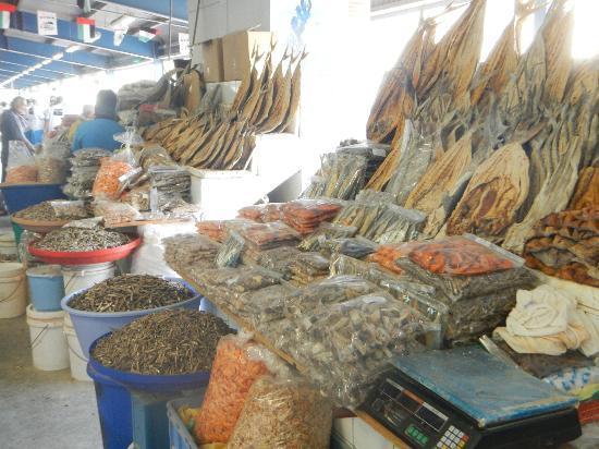 Dubai Deira Fish Souk: Dried Fish in Fish Souk
