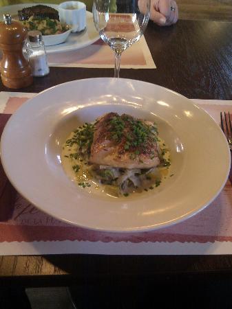 Restaurant la Ferme de la Haute Cremonville: Fish plate