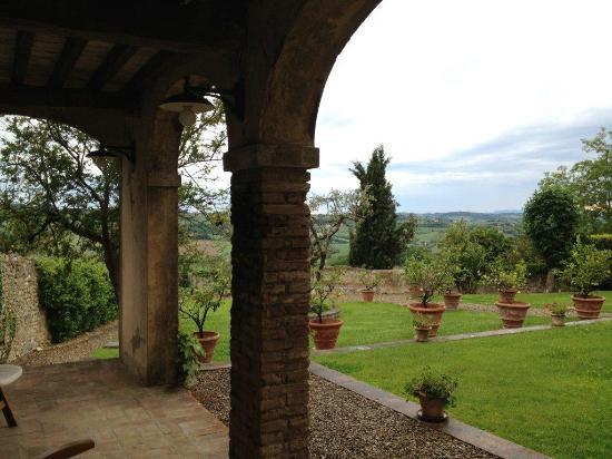 Villa Talente: Portico con vista