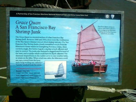 China Camp State Park: Informative poster along the dock