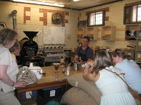 Taste Carolina Gourmet Food Tours: Open Eye Cafe coffee roasters