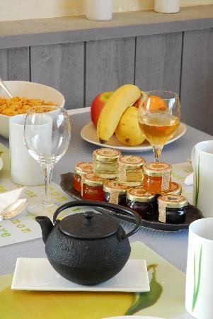 Logis Le Gavrinis : exemple petit déjeuner