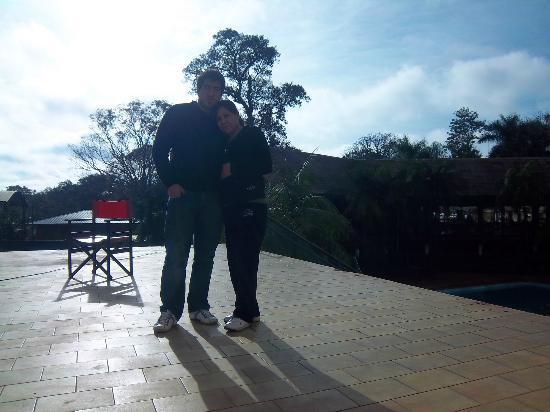 Latino Hotel: la terracita, ideal para descansar un rato tomando el solcito calido misionero