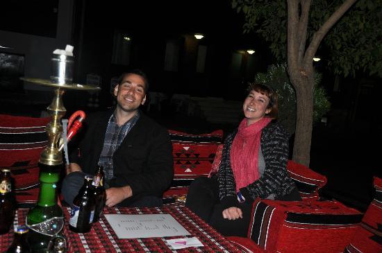 Lamp Hotel: My boyfriend and I enjoying a Hookah