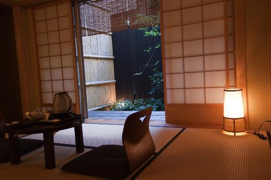 Kyomachiya Ryokan Sakura Honganji: Chambre traditionnelle à tatami avec jardin privatif