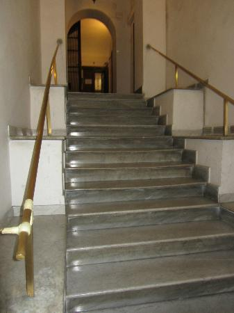 Habana's Design: Upon entering the building, entry way stairs