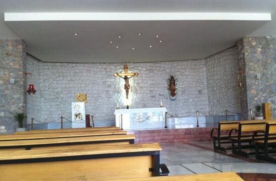 Christ of the Noas: inside Noas chapel
