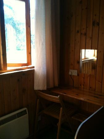 Lochletter Lodges: All rooms have a dressing table