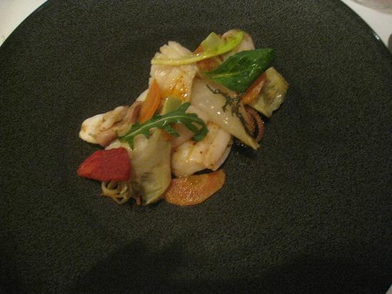 Restaurant Christopher Coutanceau: seafood dish