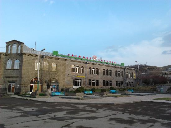 Sisian, Armenia: The hotel from the square