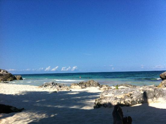 Hotel Cabanas Luna Maya : Beach