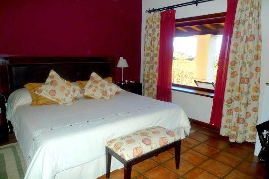 Vinas de Cafayate Wine Resort: Suite with chairs overlooking the vineyards...go for it!