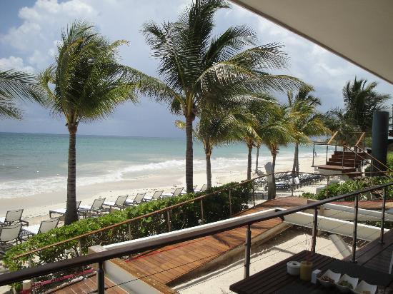 Blue Diamond Luxury Boutique Hotel: View from the bar on the beach