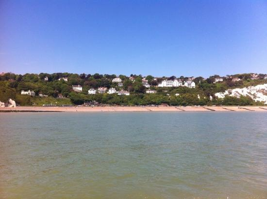 St Margaret's Bay Beach: view from the sea