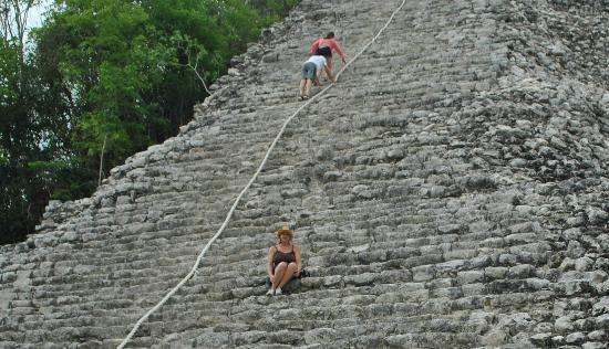 The Grand Mayan Riviera Maya: only partway up Coba's Nohoch Mul pyramid