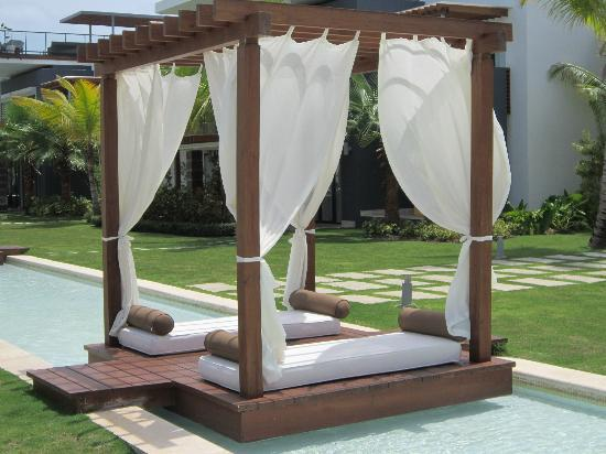 Our family spent a lot of time reading and relaxing in these cabanas