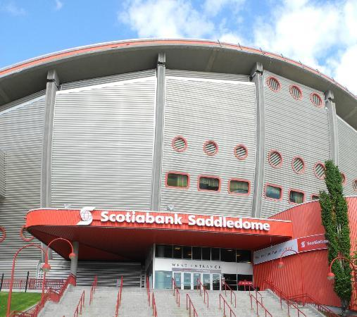 Main Saddledome Entrance Picture Of The Scotiabank