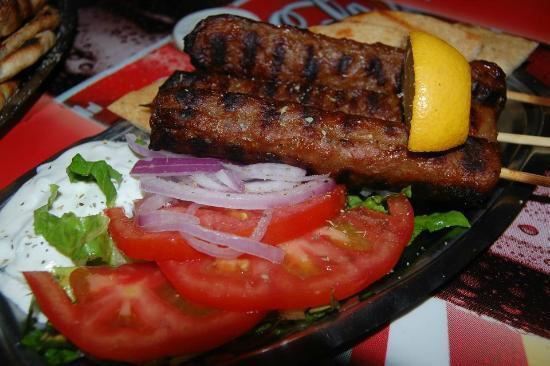 Lucky's Souvlakis: Beef Souvlaki