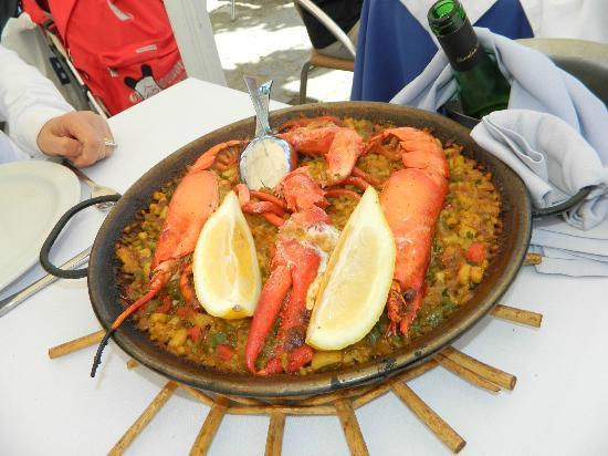Restaurante Litoral : paella all'astice