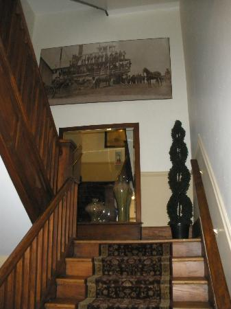 The Royal Hotel: Stairway with art work