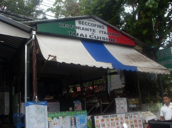 Beccofino Restaurante Italiano: Front of resturant