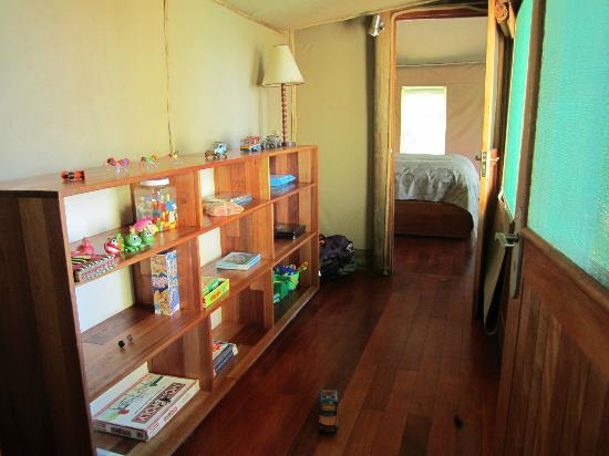 Wilderness Safaris Seba Camp: Play room