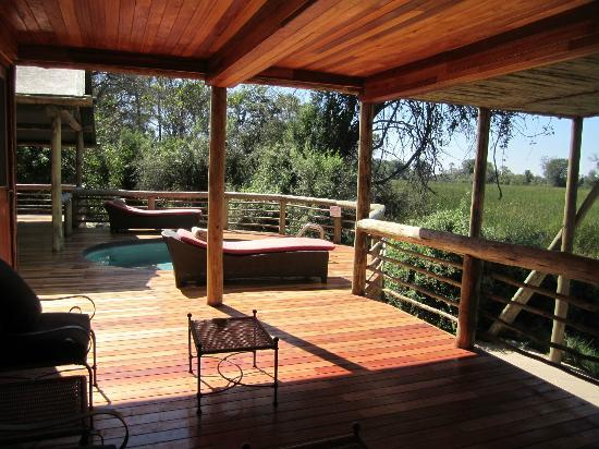 Wilderness Safaris Seba Camp: Deck and private pool