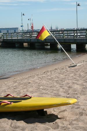 Pihlajasaari Recreational Park: sofl sand for lying on