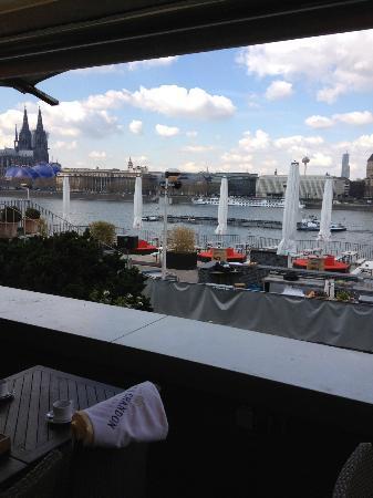 Rheinterrassen: Blick auf den Rhein