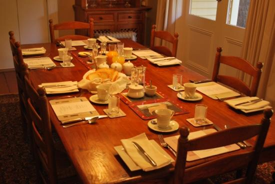 Hawthorne House: breakfast table