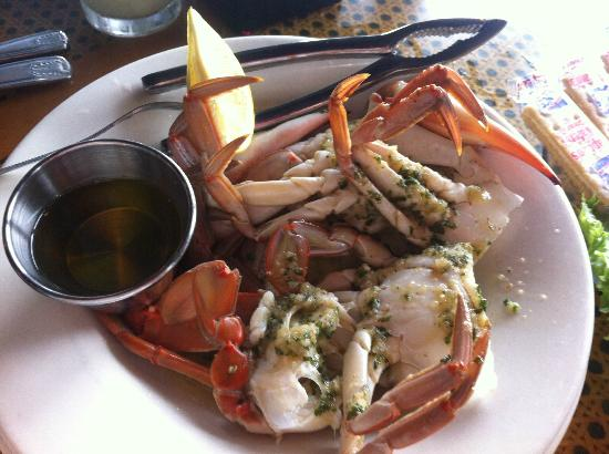 "GARLIC BLUE CRABS ""Charleston Style"" Split, Cleaned, Steamed and"