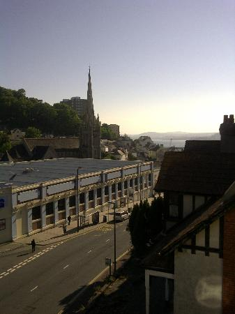 Hudson Hotel: View from the second bedroom window, can just see the sea.