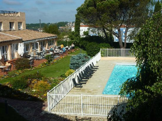 Le Rabelais Hôtel -Restaurant -SPA : vue de la chambre 21