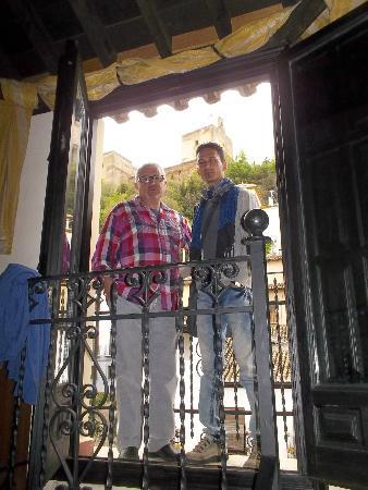 Hotel Zaguan del Darro: Vista desde el balconcito de la habitación