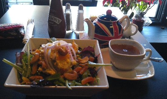 Coronation chicken salad and a spot of tea picture of for Two fish haddonfield menu