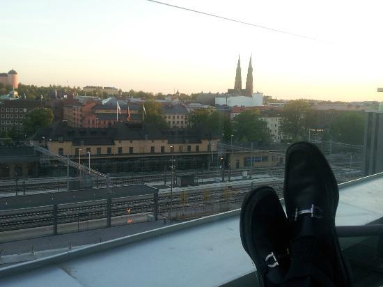 Radisson Blu Hotel Uppsala: balcony view