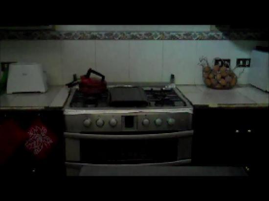 Posada Los Bucaros: Stainless steel oven