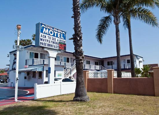 Dolphin Motel: Sign has the room price in lights $50.99 in this case
